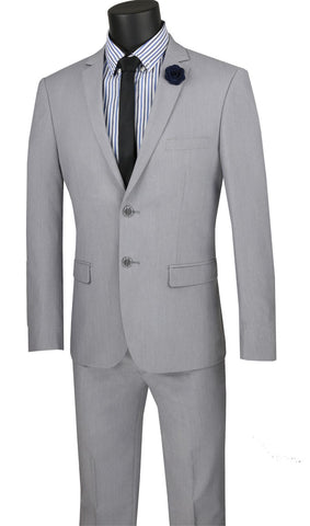 Vinci Men Suit USDX-1C-Grey - Church Suits For Less