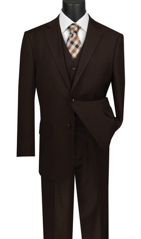 Vinci Men Suit V2RS-7-Brown - Church Suits For Less