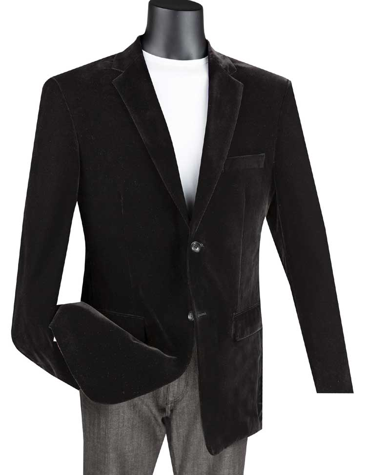 Vinci Sport Coat B-27-Black - Church Suits For Less