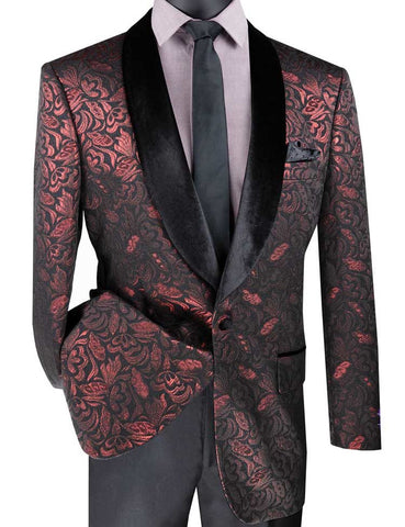 Vinci Sport Jacket BF-1-Ruby - Church Suits For Less