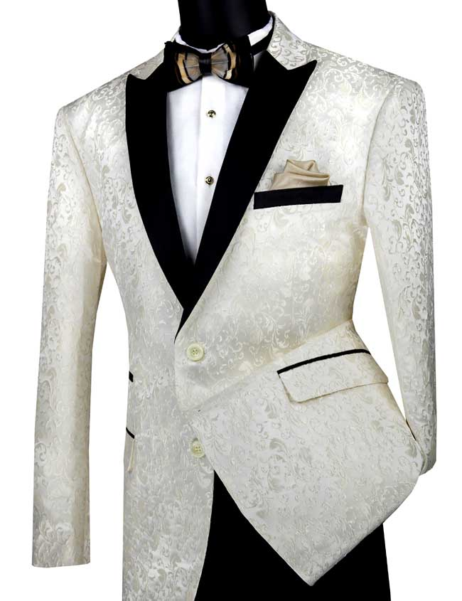 Vinci Sport Jacket BF-2-Ivory - Church Suits For Less