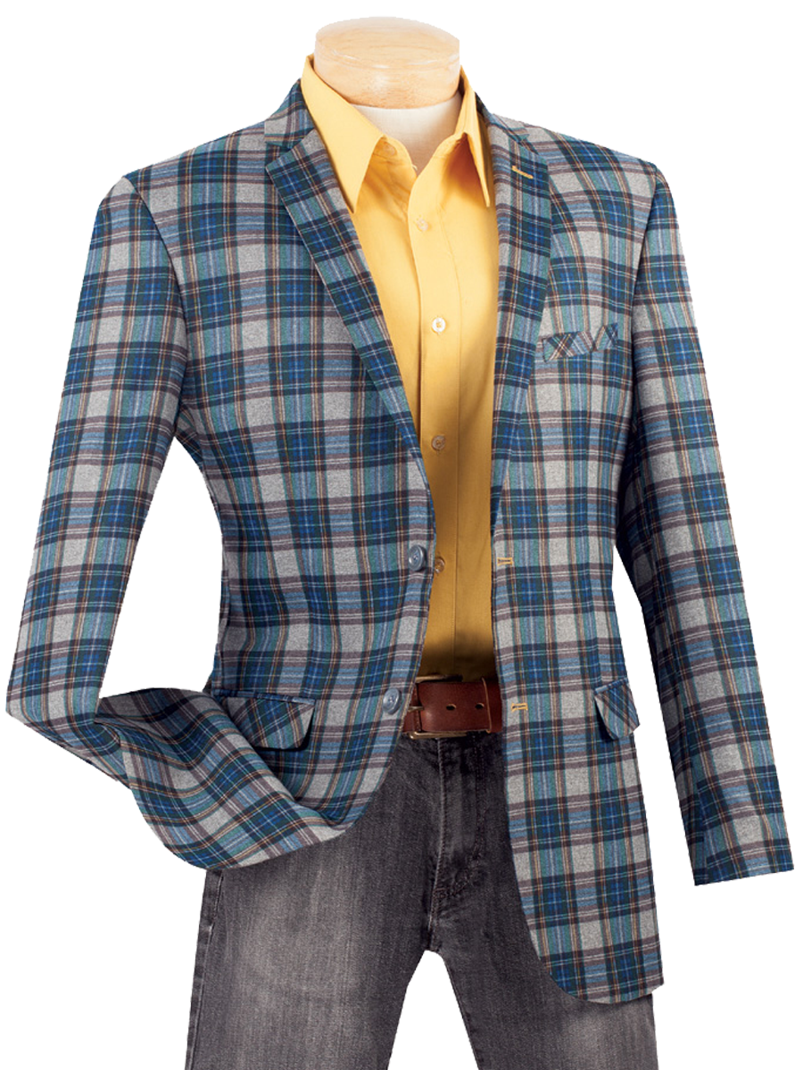 Vinci Sport Jacket BS-01-Blue - Church Suits For Less