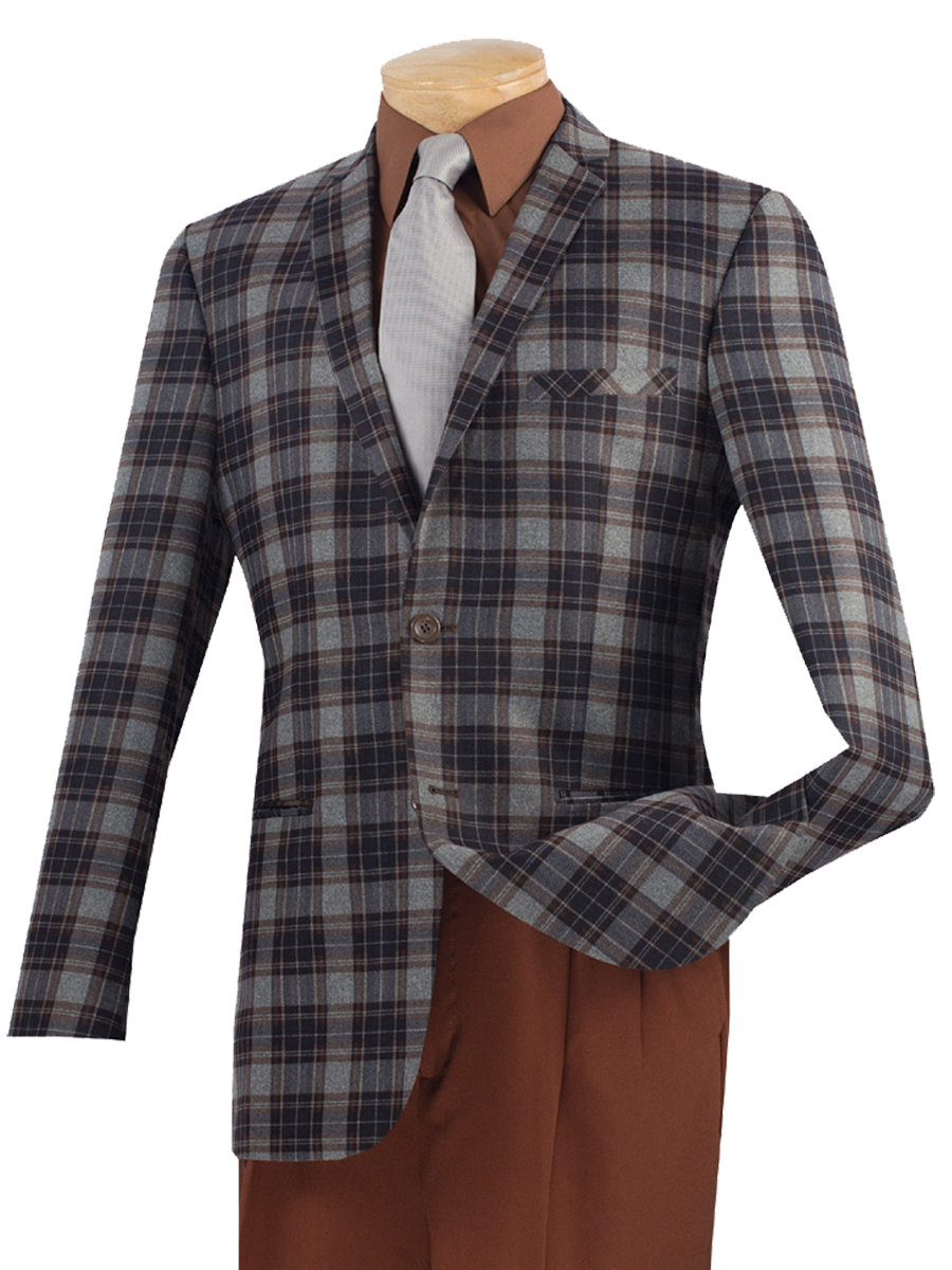 Vinci Sport Jacket BS-01-Brown - Church Suits For Less