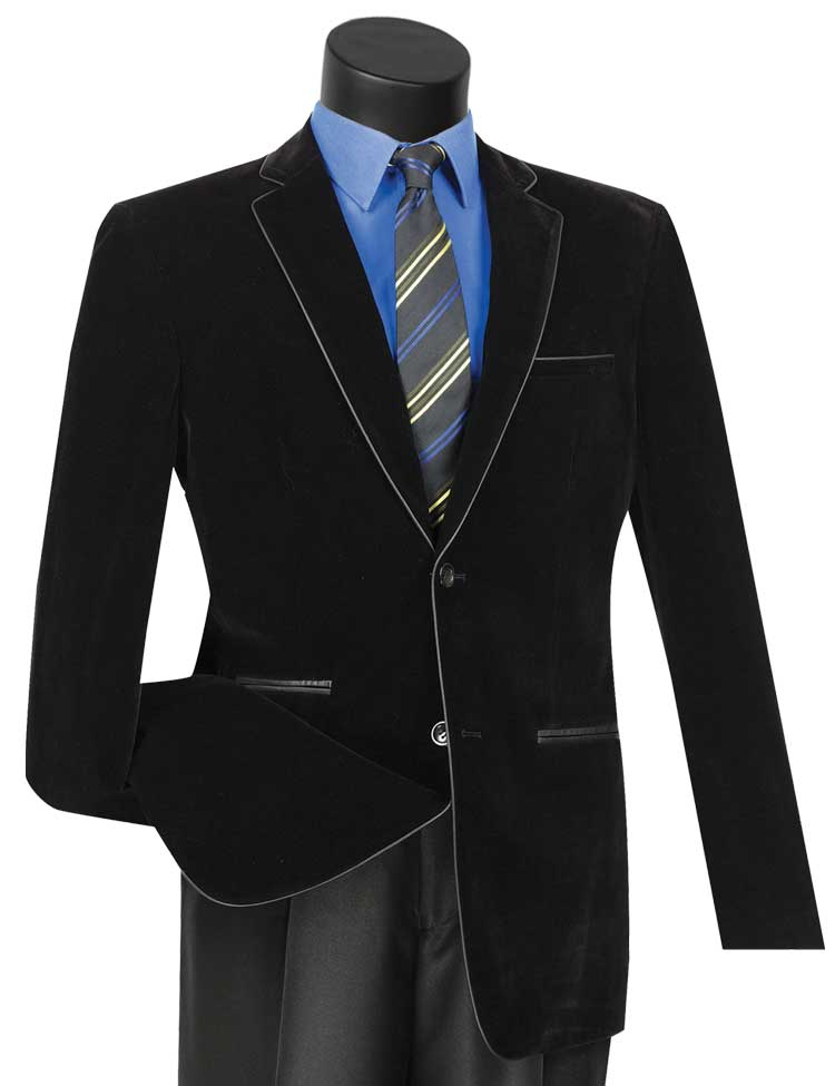 Vinci Sport Jacket BS-02-Black - Church Suits For Less