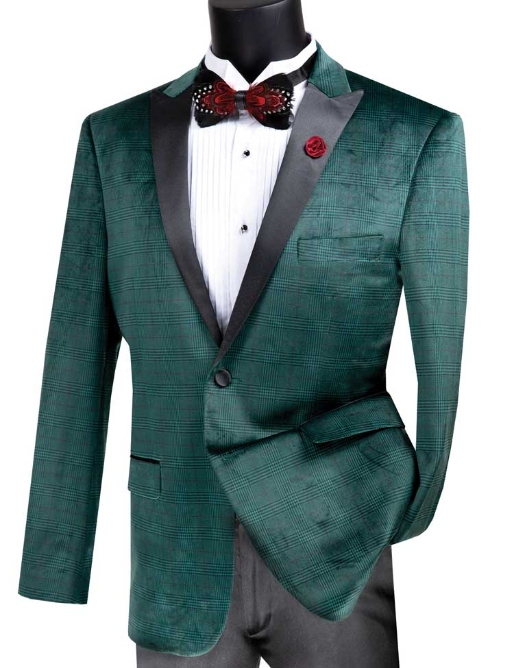 Vinci Sport Jacket BS-14-Emerald - Church Suits For Less