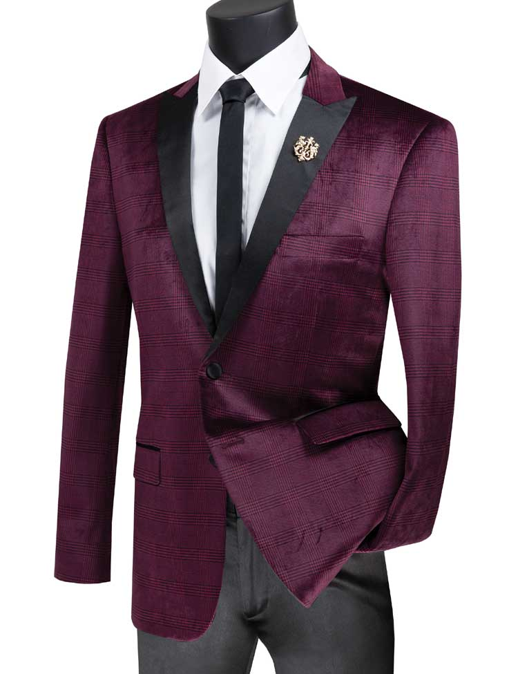 Vinci Sport Jacket BS-14-Ruby - Church Suits For Less