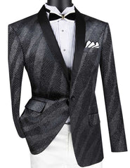 Vinci Sport Jacket BS-15-Black - Church Suits For Less