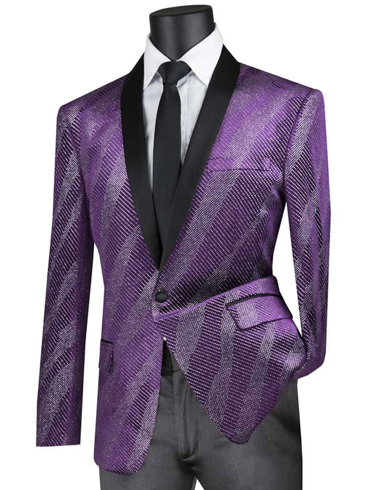 Vinci Sport Jacket BS-15-Purple - Church Suits For Less