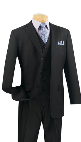 Vinci Men Suit 3TR-3-Black