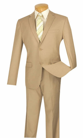 Vinci Men Suit US900-1-Beige - Church Suits For Less