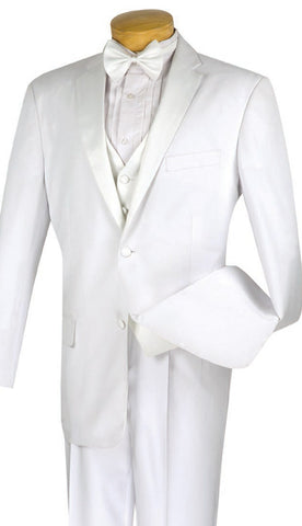 Vinci Men Tuxedo 4TV-1-White