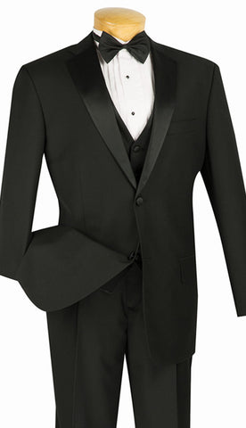 Vinci Men Tuxedo 4TV-1-Black