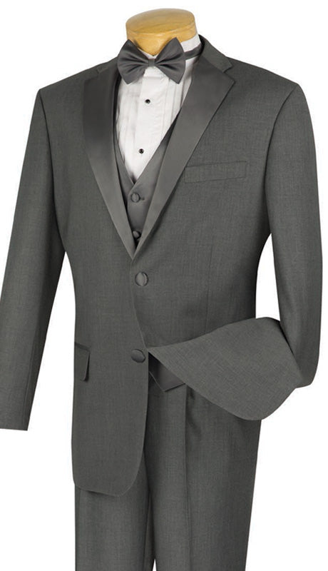 Vinci Men Tuxedo 4TV-1-Gray - Church Suits For Less
