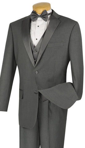 Vinci Men Tuxedo 4TV1-Grey - Church Suits For Less