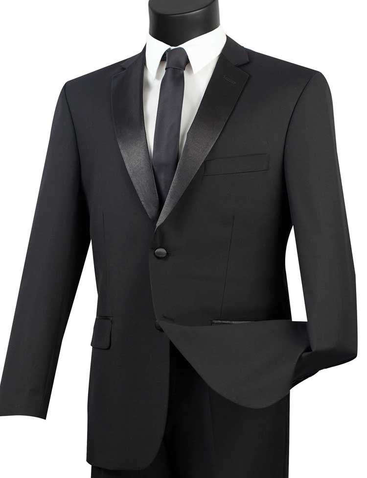 Vinci Tuxedo T-900-Black - Church Suits For Less