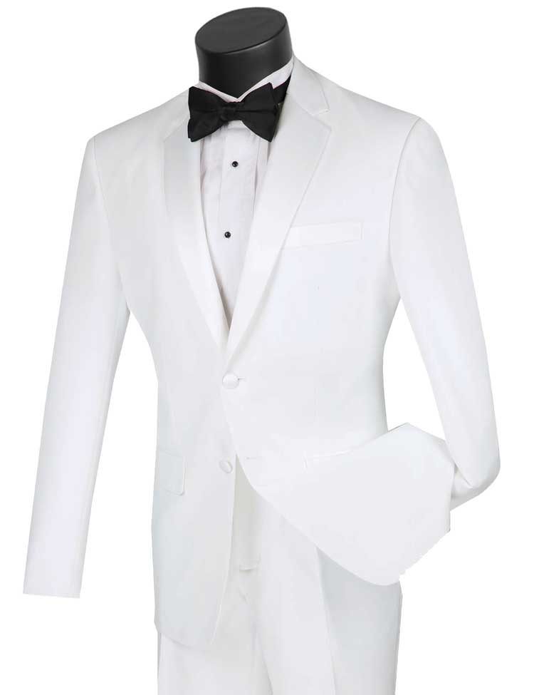 Vinci Tuxedo T-SLPP-White - Church Suits For Less