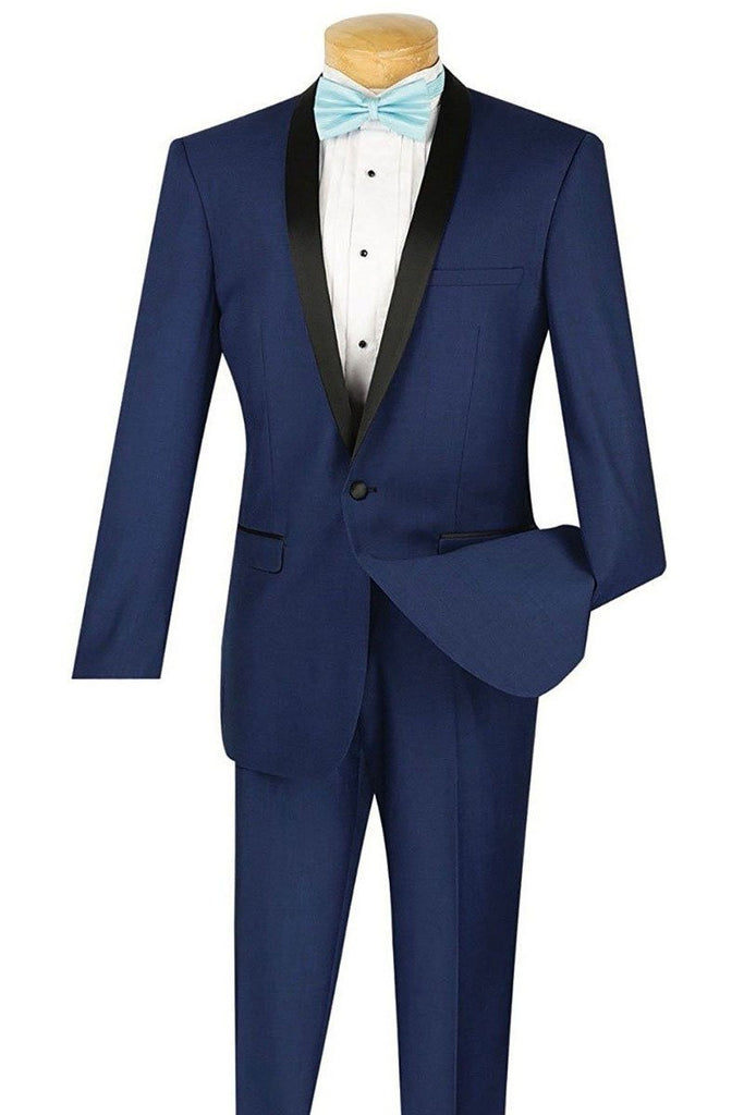 Vinci Tuxedo T-SS-Blue - Church Suits For Less