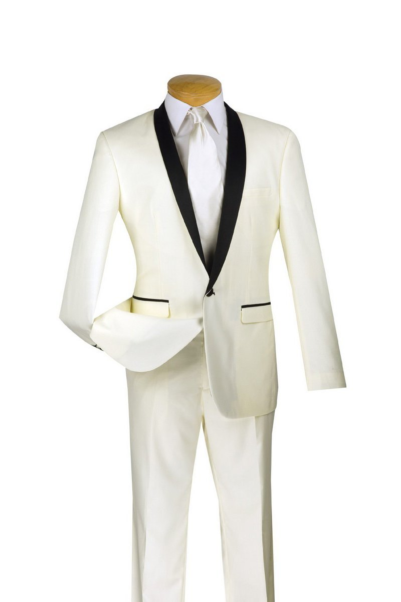 Vinci Tuxedo T-SS-Ivory - Church Suits For Less