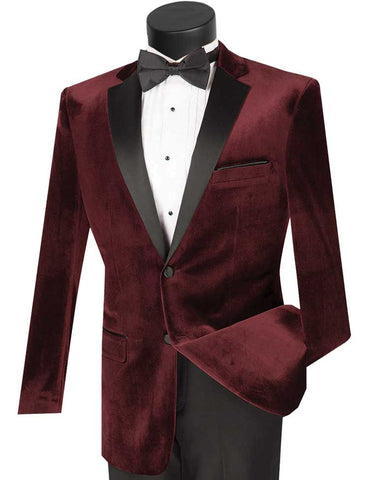 Vinci Tuxedo T-SV-Wine - Church Suits For Less