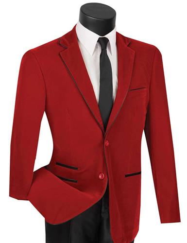 Vinci Sport Jacket BS-02-Red - Church Suits For Less
