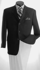 Vittorio St Angelo Dinner Jacket Z733TAC-Black - Church Suits For Less