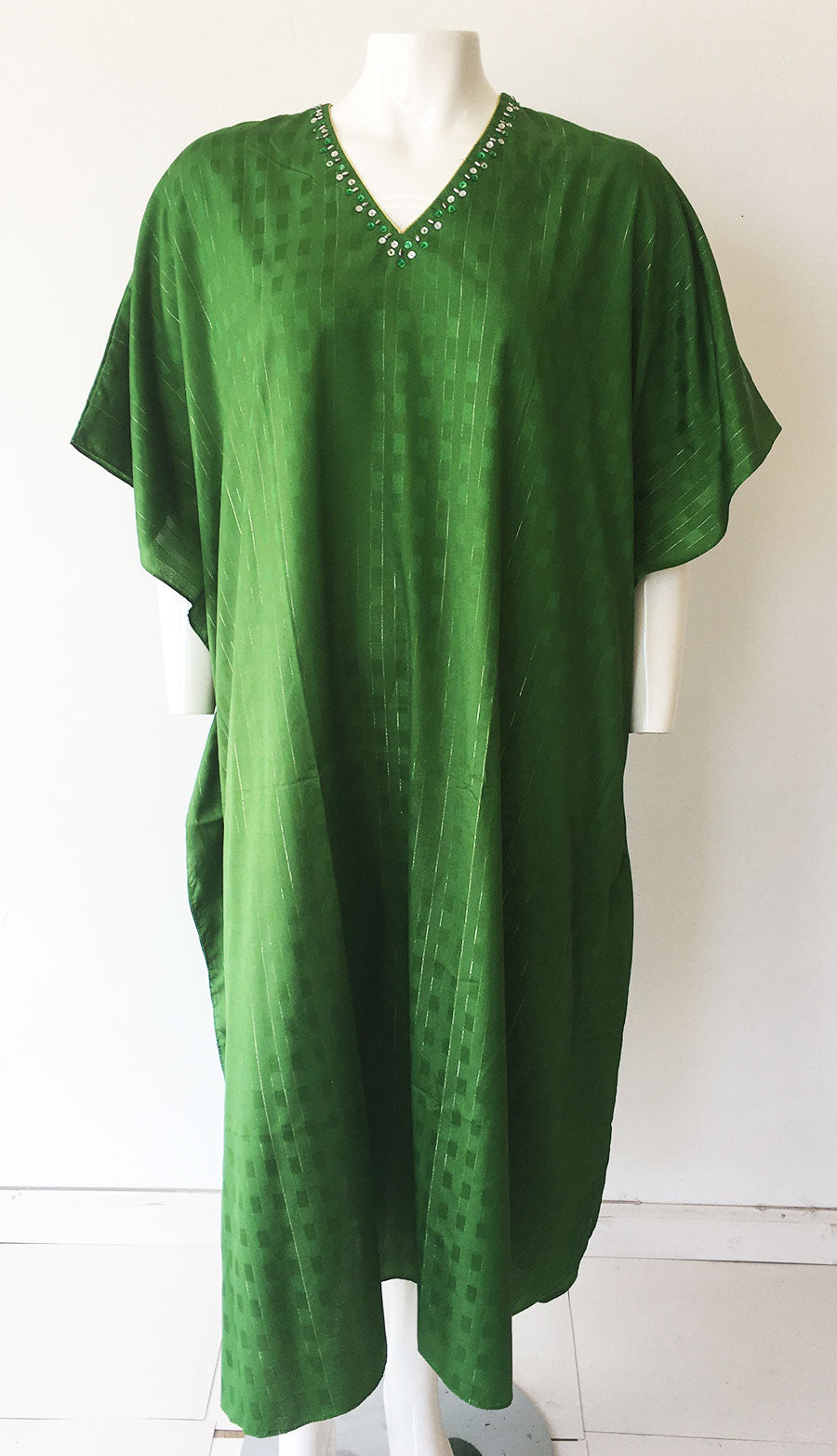 Women Caftan Green - Church Suits For Less