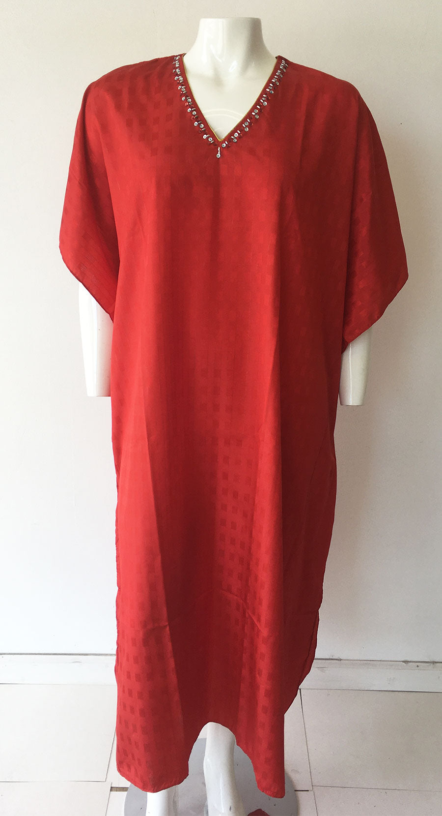 Caftan Solid Red - Church Suits For Less