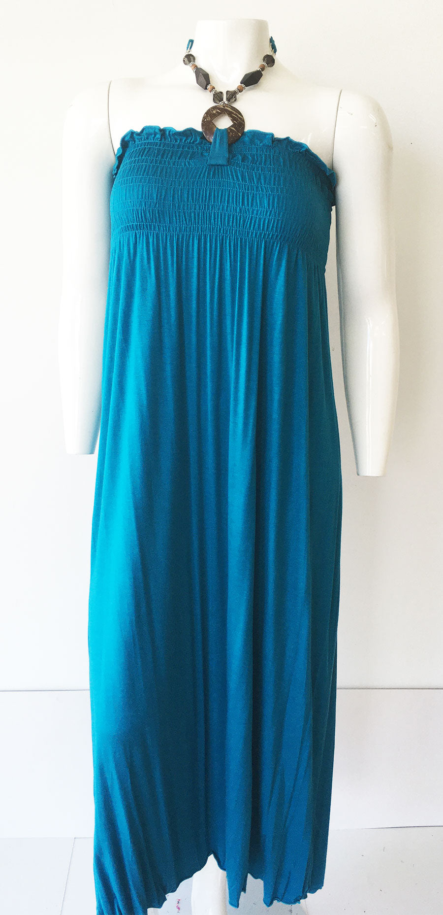Casual Dress 7500-Teal - Church Suits For Less