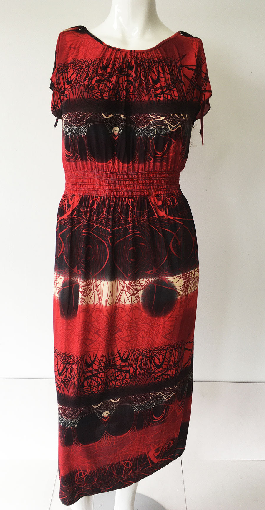 Casual Dress HY2274-Red/Black - Church Suits For Less