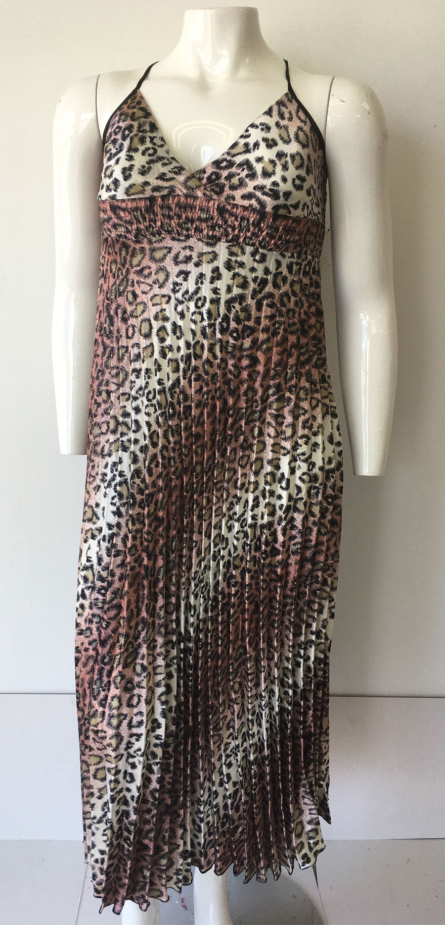 Casual Dress SB256-Leopard/Pink - Church Suits For Less
