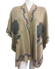 Women Fashion Poncho 11-Taupe - Church Suits For Less