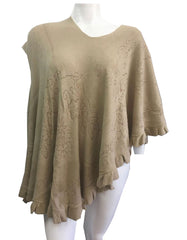 Women Fashion Poncho 12-Taupe - Church Suits For Less