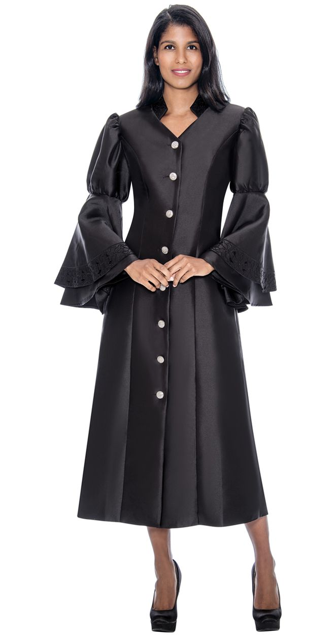 GMI Church Robe RR9111-Black - Church Suits For Less