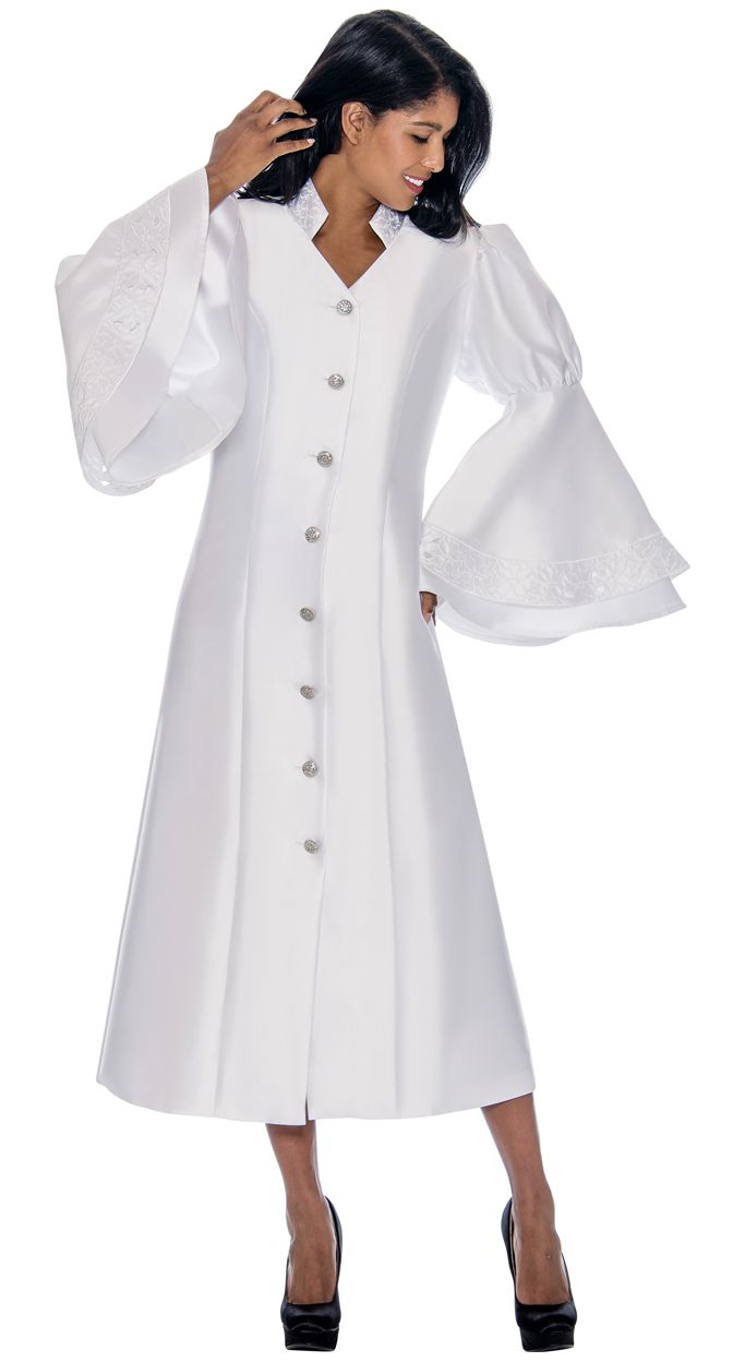 GMI Church Robe RR9111-White - Church Suits For Less