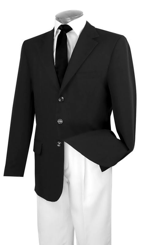 Vinci Men Blazer Z-3PP-Black - Church Suits For Less