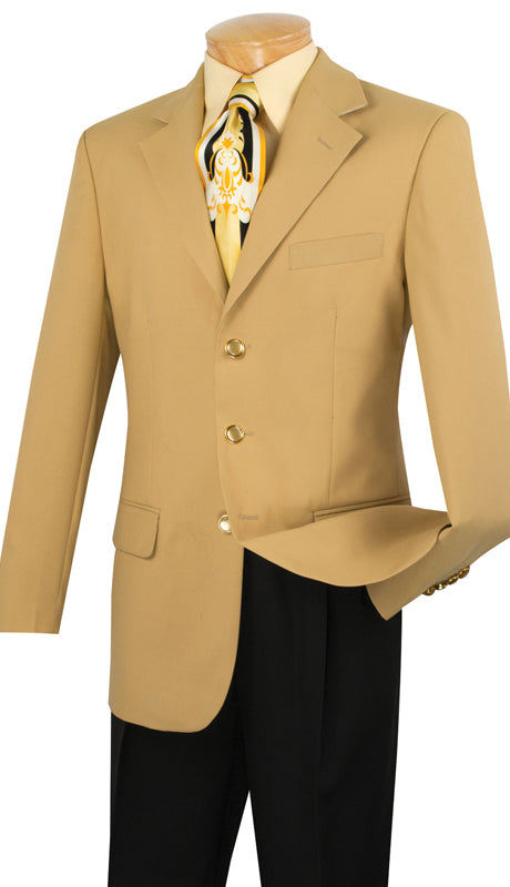 Vinci Men Blazer Z-3PP-Gold - Church Suits For Less