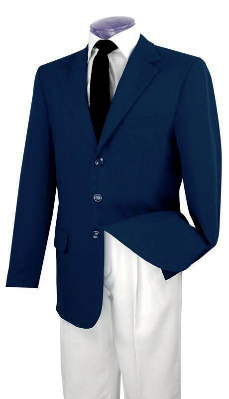 Vinci Men Blazer Z-3PP-Navy - Church Suits For Less