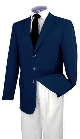 Vinci Men Blazer Z-3PP-Navy