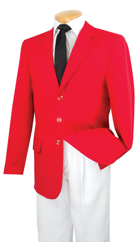 Vinci Men Blazer Z-3PP-Red - Church Suits For Less
