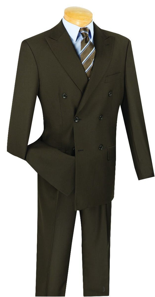 Vinci Men Suit DC900-1-Brown - Church Suits For Less