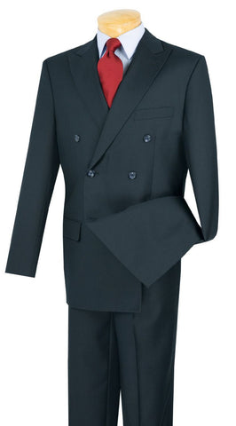 Vinci Men Suit DC900-1-Navy - Church Suits For Less
