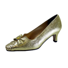 Women Church Shoes DP691-Gold - Church Suits For Less