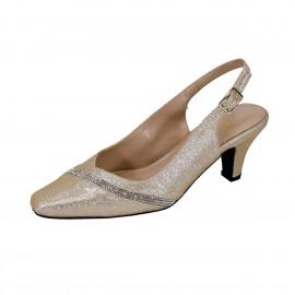 Women Church Shoes DP833-Champagne - Church Suits For Less