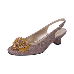 Women Church Shoes DP846-Bronze - Church Suits For Less