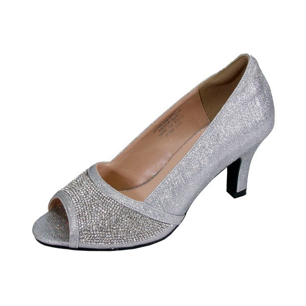 Women Church Shoes DP897-Silver - Church Suits For Less