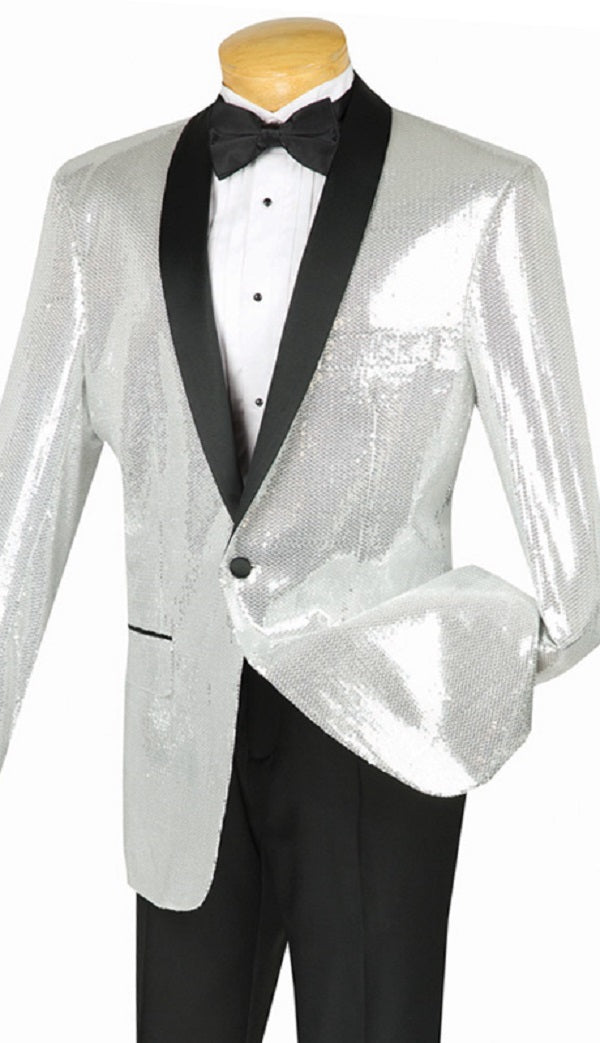 Vinci Men Suit BSQ-1-Silver - Church Suits For Less