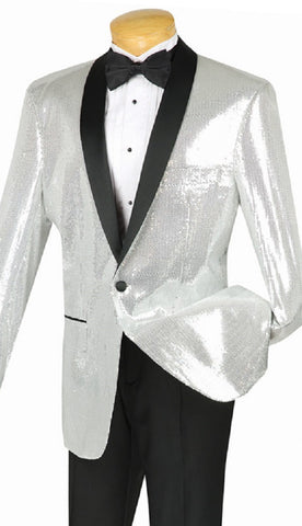 Vinci Men Suit BSQ-1-Silver