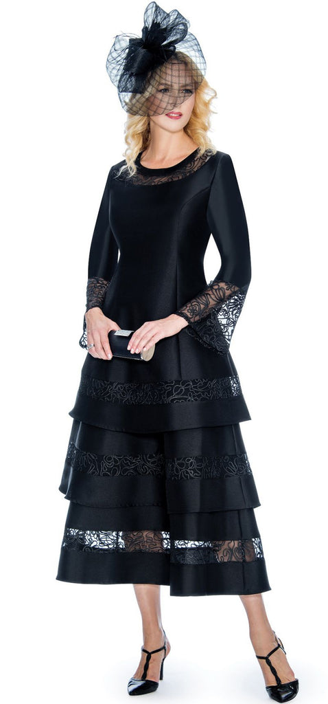 Giovanna Dress D1346-Black - Church Suits For Less