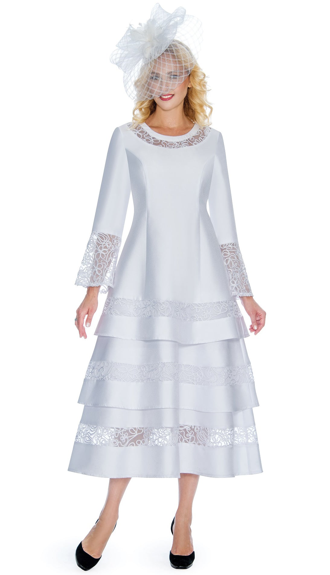 Giovanna Dress D1346-White - Church Suits For Less