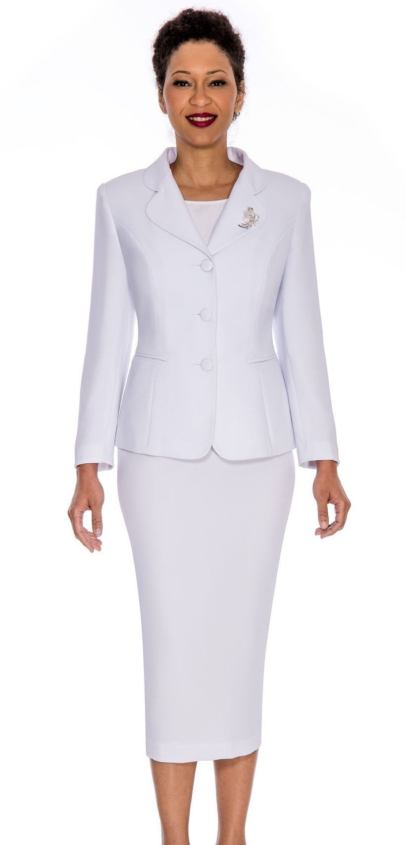 Giovanna Usher Suit 0824- White - Church Suits For Less